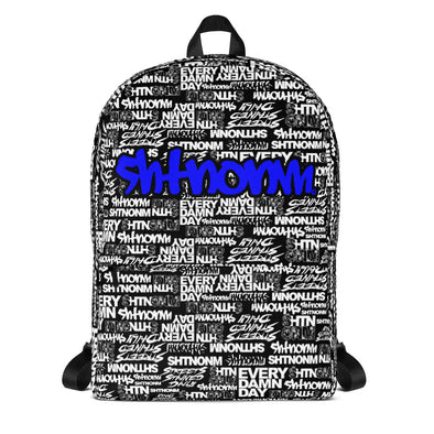 SHTNONM - Black Backpack (Blue)