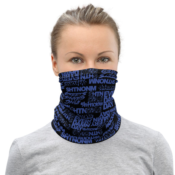 Black/Blue Face Mask/Neck Gaiter