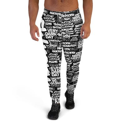 Men's SHTNONM ALL DAY Joggers (Black/White)