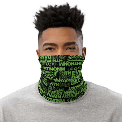 Black/Neon Green Face Mask/Neck Gaiter