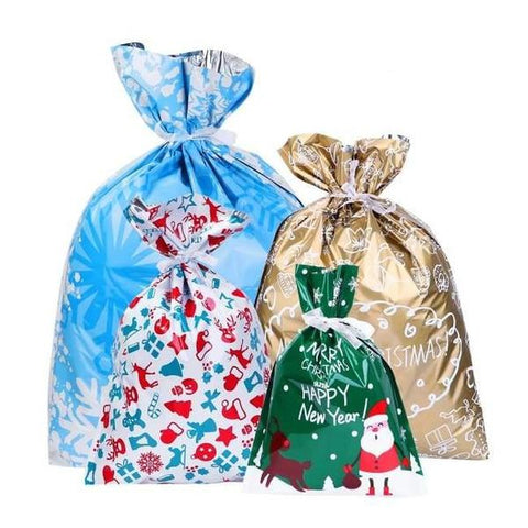 Christmas Drawstring Gift Bags (30 Pack)