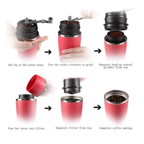 Portable Coffee Mug & Grinder