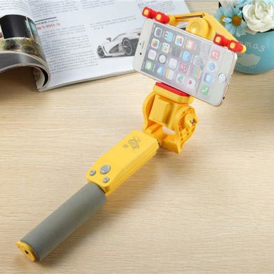 Iwantzone.com - 360 Rotation Selfie Stick - Selfie Sticks - Yellow - 360-Selfie-Stick