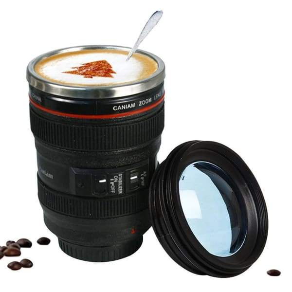 400ml Stainless Steel Camera Lens Mug With Lid - Mugs - 400ml-stainless-steel-camera-lens-mug-with-lid