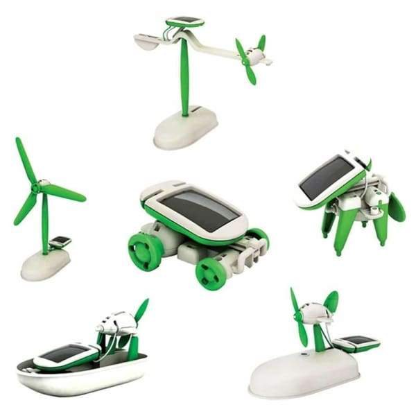 6 in 1 Solar Powered Robot Kit