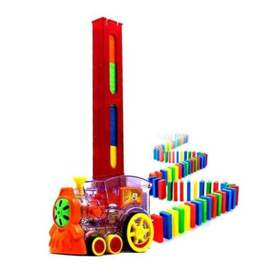 Automatic Domino Brick Laying Toy Train - Party DIY Decorations - Red - automatic-domino-brick-laying-toy-train