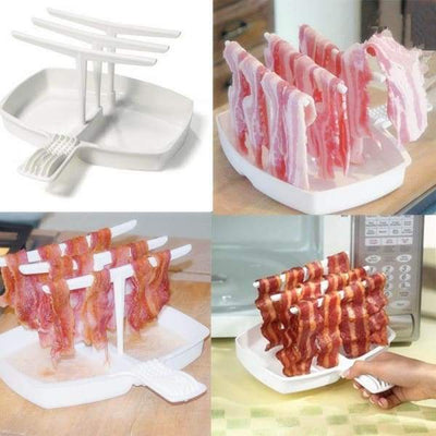 iWantZone.com-Bacon Tray Rack Microwave Bacon Cooker-Cooking Tool Sets-www.iWantZone.com-