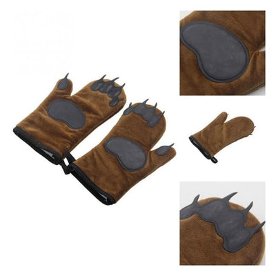 Iwantzone.com - Bear Paw Oven Gloves (1 Pair) - Oven Mitts & Oven Sleeves - Bear-Paw-Oven-Gloves