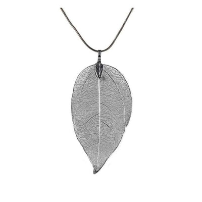 Iwantzone.com - Beautiful Leaf Necklace - Pendant Necklaces - Black - Beautiful-Leaves-Necklace