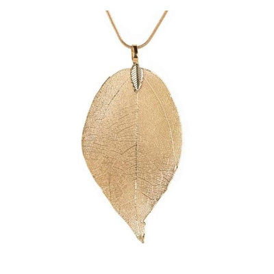 Iwantzone.com - Beautiful Leaf Necklace - Pendant Necklaces - Gold - Beautiful-Leaves-Necklace