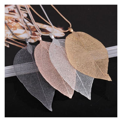 Iwantzone.com - Beautiful Leaf Necklace - Pendant Necklaces - Beautiful-Leaves-Necklace