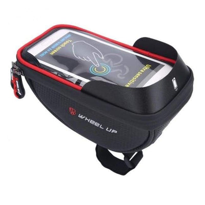 Iwantzone.com - Bicycle Phone Holder & Storage - Bicycle Bags & Panniers - Black Red - Bicycle-Phone-Holder-Storage