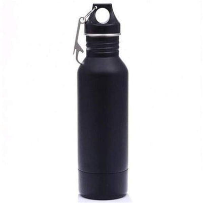 iWantZone.com-Bottle Beer Cold Keeper with Opener-Vacuum Flasks & Thermoses-www.iWantZone.com-Black-