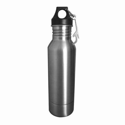 iWantZone.com-Bottle Beer Cold Keeper with Opener-Vacuum Flasks & Thermoses-www.iWantZone.com-Silver-