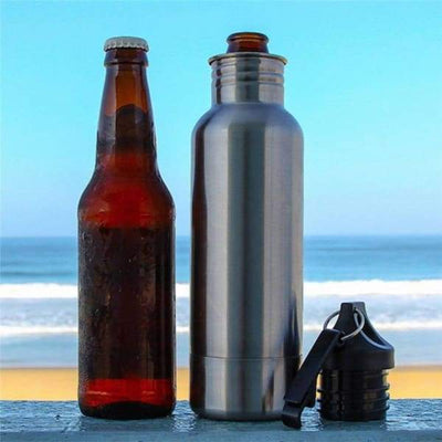 iWantZone.com-Bottle Beer Cold Keeper with Opener-Vacuum Flasks & Thermoses-www.iWantZone.com-