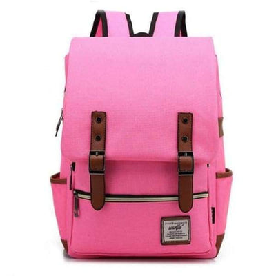 Iwantzone.com - Canvas Backpacks - Pink -