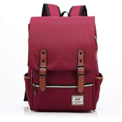 Iwantzone.com - Canvas Backpacks - Red -