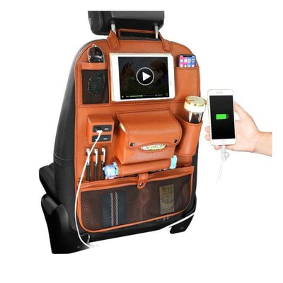iWantZone.com-Car Back Seat Organizer With USB-Stowing Tidying-iWantZone.com-