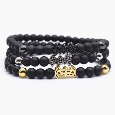 iWantZone.com-Crown/Warrior/Panther/Batman Charm Bracelet With Natural Stone-iWantZone.com-