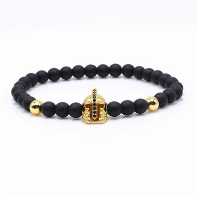 iWantZone.com-Crown/Warrior/Panther/Batman Charm Bracelet With Natural Stone-iWantZone.com-Warrior Gold-