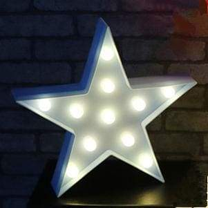 iWantZone.com-Kids Dream star cloud and moon Lights-LED Night Lights-www.iWantZone.com-Blue Star-