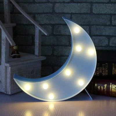 iWantZone.com-Kids Dream star cloud and moon Lights-LED Night Lights-www.iWantZone.com-Blue Moon-