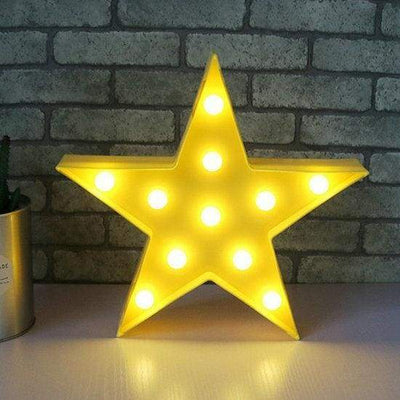 iWantZone.com-Kids Dream star cloud and moon Lights-LED Night Lights-www.iWantZone.com-Yellow Star-