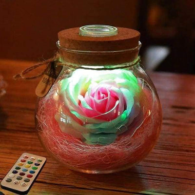 iWantZone.com-LED Rose Lamp in a Bottle-LED Bulbs & Tubes-REEDBUCK Good Night Store-