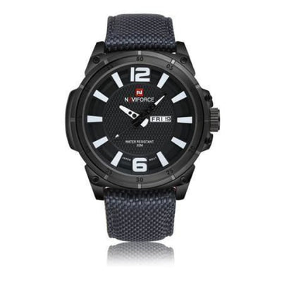 Iwantzone.com - Luxury Mens Nylon Strap Sports Wristwatch - Black - Luxury-Mens-Nylon-Strap-Sports-Wristwatch