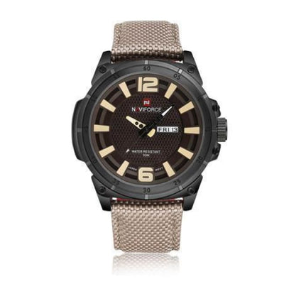 Iwantzone.com - Luxury Mens Nylon Strap Sports Wristwatch - Grey - Luxury-Mens-Nylon-Strap-Sports-Wristwatch