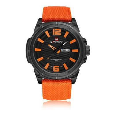Iwantzone.com - Luxury Mens Nylon Strap Sports Wristwatch - Orange - Luxury-Mens-Nylon-Strap-Sports-Wristwatch