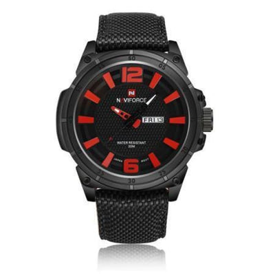 Iwantzone.com - Luxury Mens Nylon Strap Sports Wristwatch - Red - Luxury-Mens-Nylon-Strap-Sports-Wristwatch