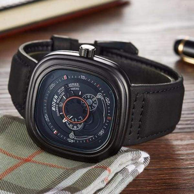 iWantZone.com-Luxury Military Quartz Sports Watch - Leather Strap-iWantZone.com-