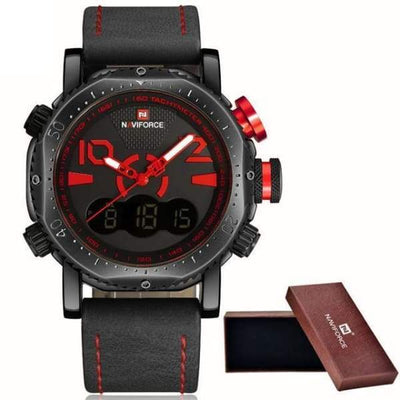 iWantZone.com-Luxury Sports Chronograph LED Display-iWantZone.com-Black/Red-