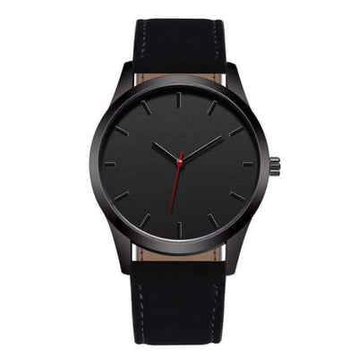 iWantZone.com-Men Leather Sports Watch-Quartz Watches-www.iWantZone.com-Black-
