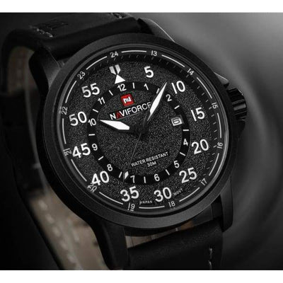 iWantZone.com-Men's 3ATM Leather Sports Watch-iWantZone.com-