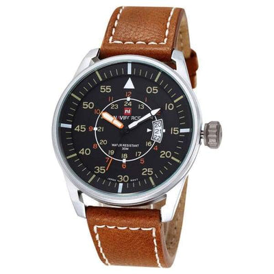 Mens Luxury Ultra Thin Dial Sports Watch - Silver Brown - mens-luxury-ultra-thin-dial-sports-watch
