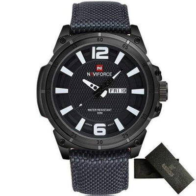 Mens Sports 3D Dial Nylon Strap - Grey White - mens-sports-3d-dial-nylon-strap