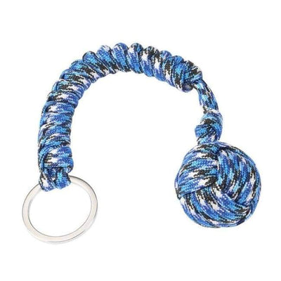 iWantZone.com-Monkey Fist Self-Defense Keychain-Outdoor Tools-www.iWantZone.com-Camouflage Blue-