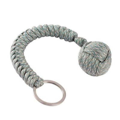 iWantZone.com-Monkey Fist Self-Defense Keychain-Outdoor Tools-www.iWantZone.com-Camouflage Gray-
