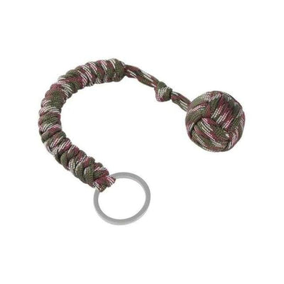 iWantZone.com-Monkey Fist Self-Defense Keychain-Outdoor Tools-www.iWantZone.com-Camouflage Green-