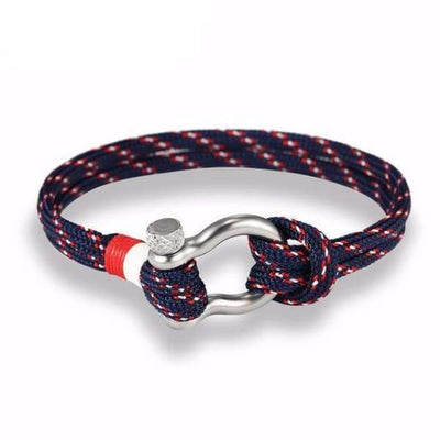 Multilayer Rope & Stainless Steel Collection - Dark Blue - multilayer-rope-stainless-steel-bracelet