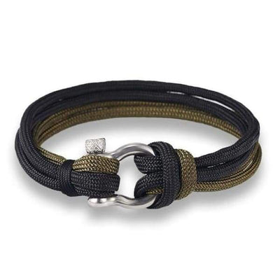 Multilayer Rope & Stainless Steel Collection - Double Black - multilayer-rope-stainless-steel-bracelet