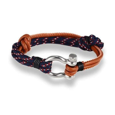 Multilayer Rope & Stainless Steel Collection - Leather Blue - multilayer-rope-stainless-steel-bracelet