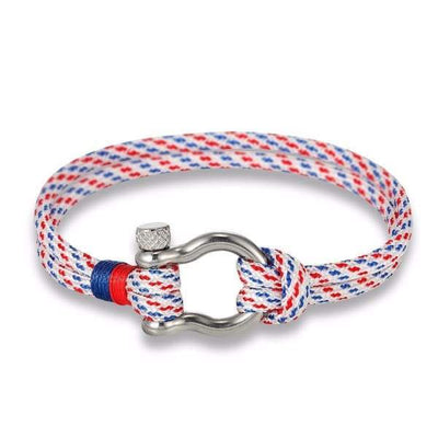 Multilayer Rope & Stainless Steel Collection - White - multilayer-rope-stainless-steel-bracelet