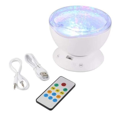 iWantZone.com-Ocean Wave effect light projector and speaker-Night Lights-www.iwantzone.com-White-