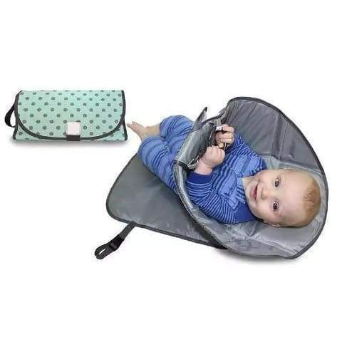 Portable Baby Changing Mat - Party Favors - Green - portable-baby-changing-mat