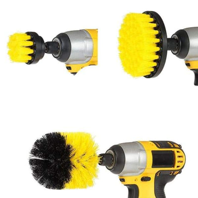 iWantZone.com-Power Brush (1 Set of 3 Brushes)-Cleaning Brushes-iWantZone.com-