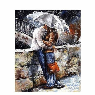 iWantZone.com-Romantic Couple - Painting By Numbers-iWantZone.com-