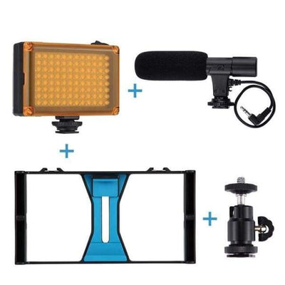 Iwantzone.com - Smartphone Rig - Photo Studio Accessories - Rig + Light + Mic - Smartphone-Rig